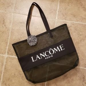 Lancome Paris Black Mesh Tote